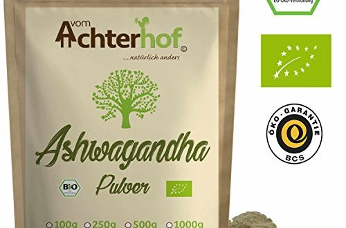 51x Y+NYxL 500x330 - Ashwagandha Pulver BIO 500g |100% ECHTE Ashwagandhawurzel gemahlen aus Indien | indischer Ginseng | Ayurveda