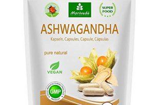 MoriVeda® - Ashwagandha Kapseln 600mg oder Tabletten 1000mg - reines Naturprodukt in Spitzenqualität - Schlafbeere, Winterkirsche, Indischer Ginseng (1x120 Kapseln)